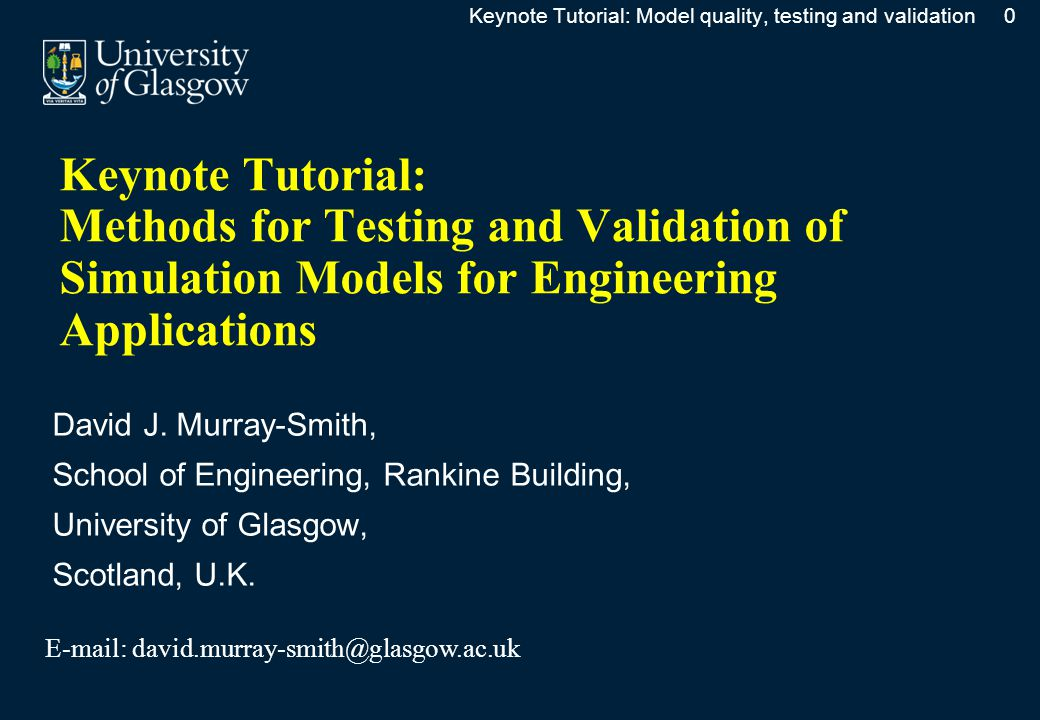 Modelling and Simulation in Engineering EducationModelling and Simulation in Engineering Education  Issues of model quality and fitness-for-purpose are seldom emphasised in the teaching of modelling and simulation.