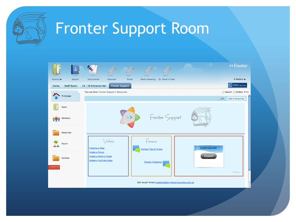 Fronter Support Room