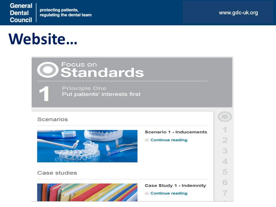 Website… www.gdc-uk.org