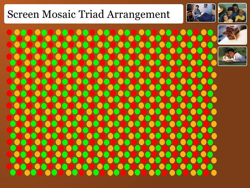 Screen Mosaic Triad Arrangement