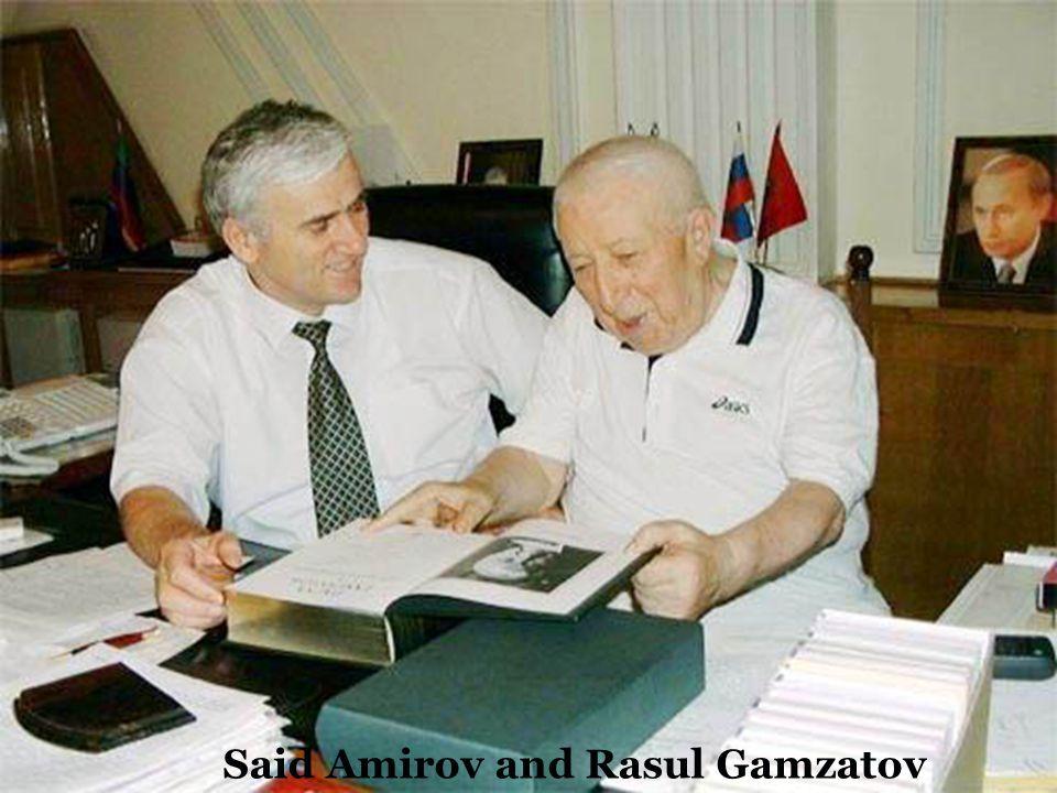 Said Amirov and Rasul Gamzatov