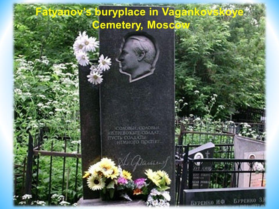 Fatyanov's buryplace in Vagankovskoye Cemetery, Moscow