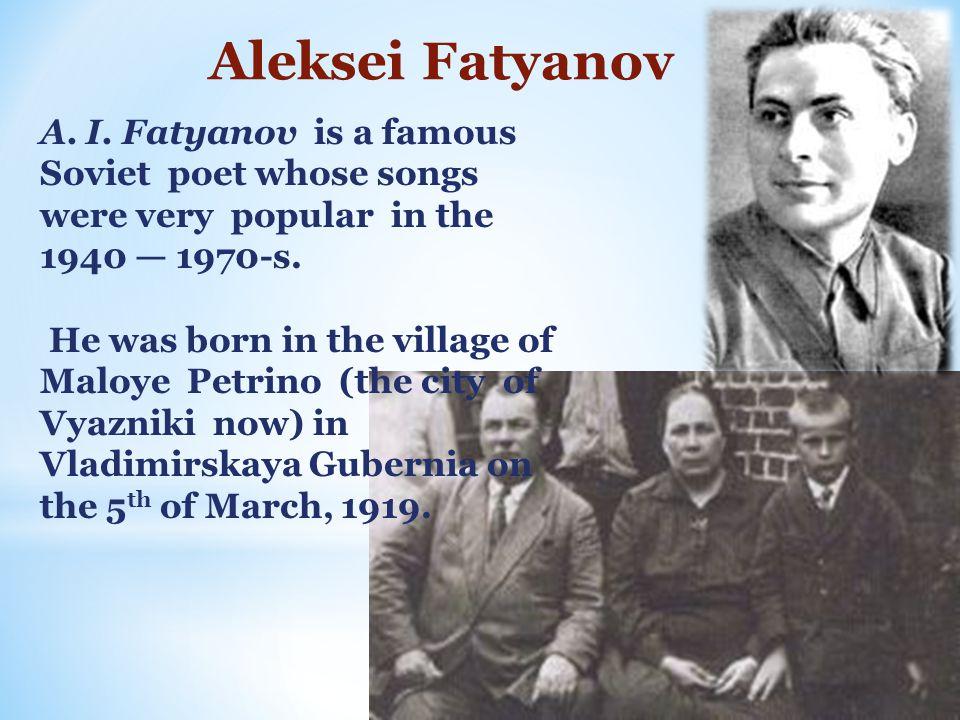 Aleksei Fatyanov A. I.