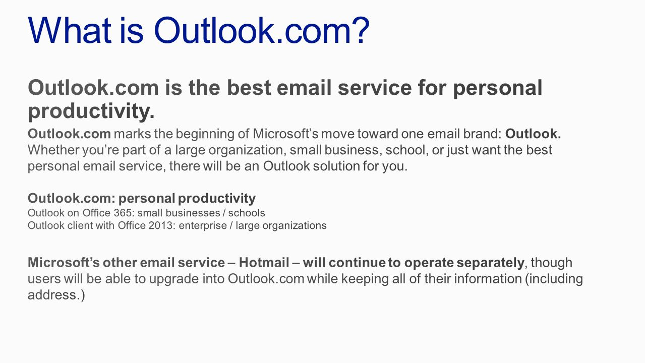 What is Outlook.com?