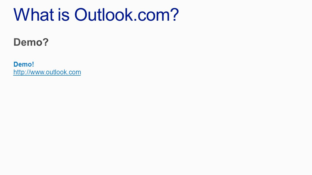 Outlook.com Marketing Executions http://www.youtube.com/watch?v=uDI6Itn7soQ&t=38s