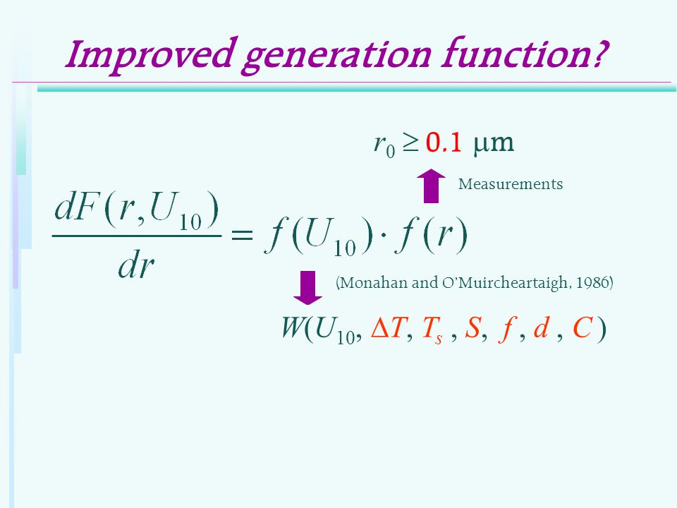 Improved generation function.