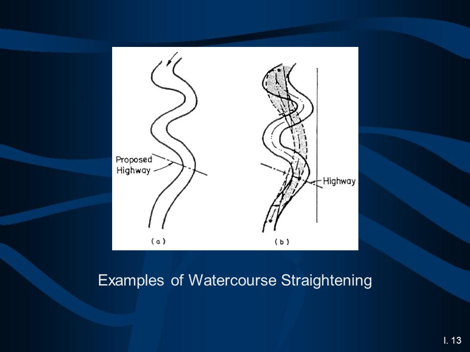 I. 13 Examples of Watercourse Straightening