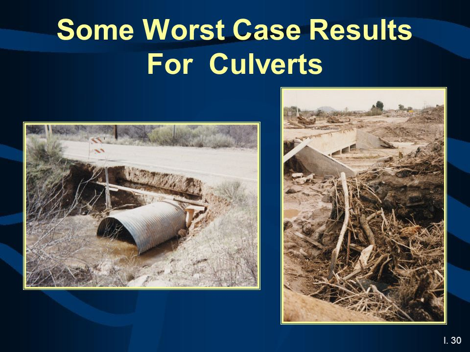 I. 30 Some Worst Case Results For Culverts