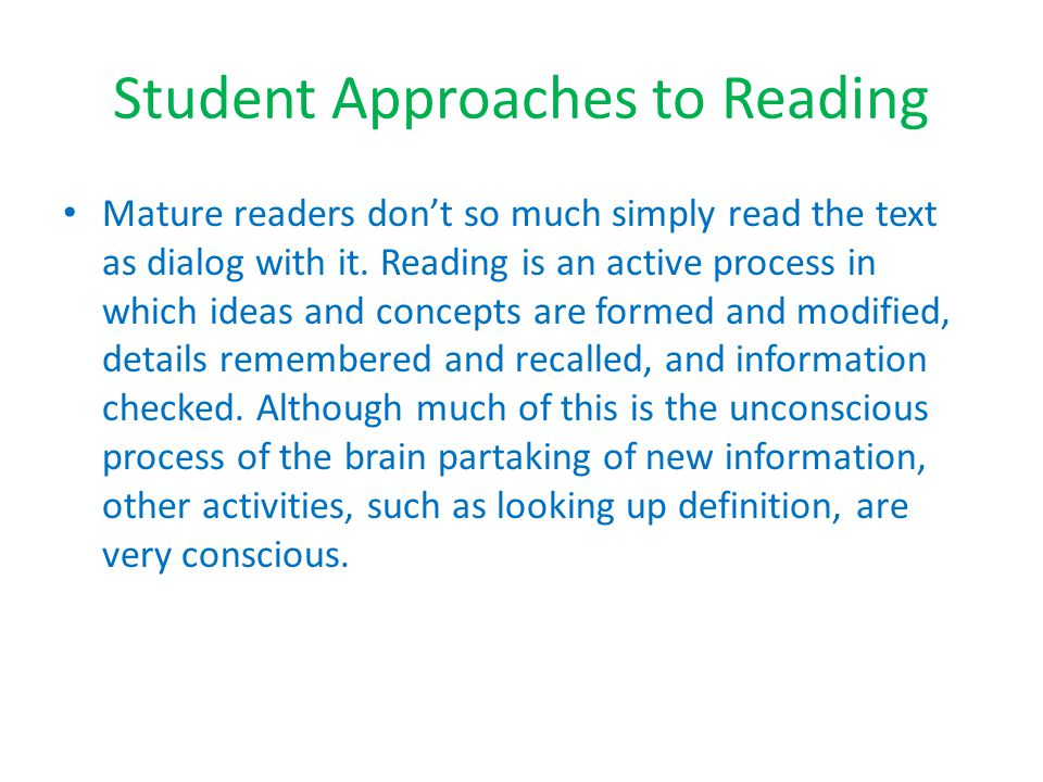 Annotating One way of evaluating students' reading is to make the reading process visible to them.