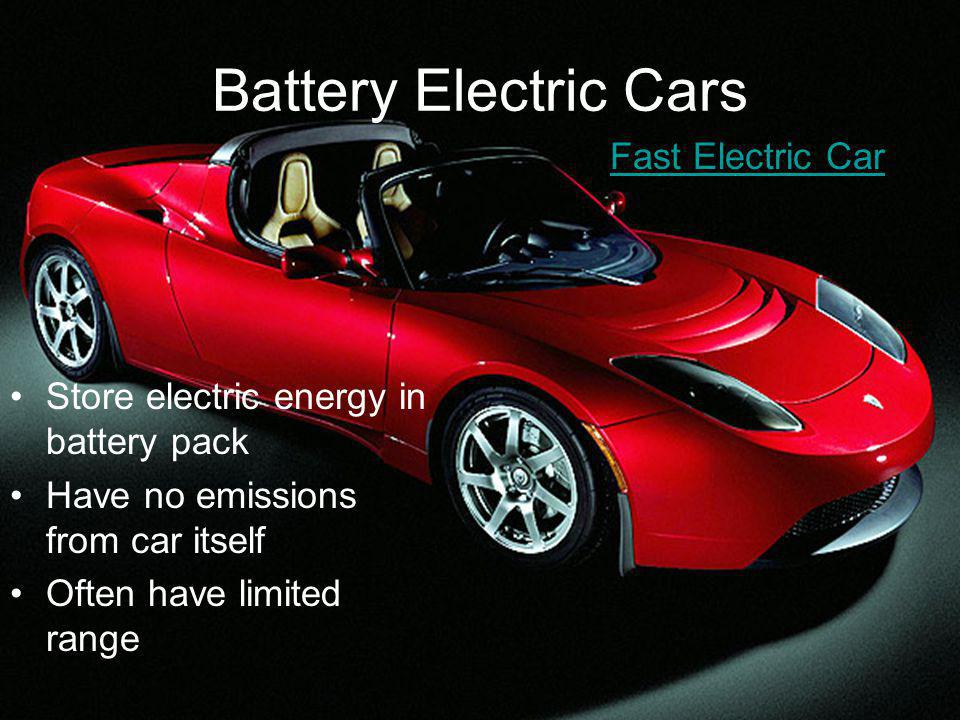 Hybrid Cars Use combination of power sources