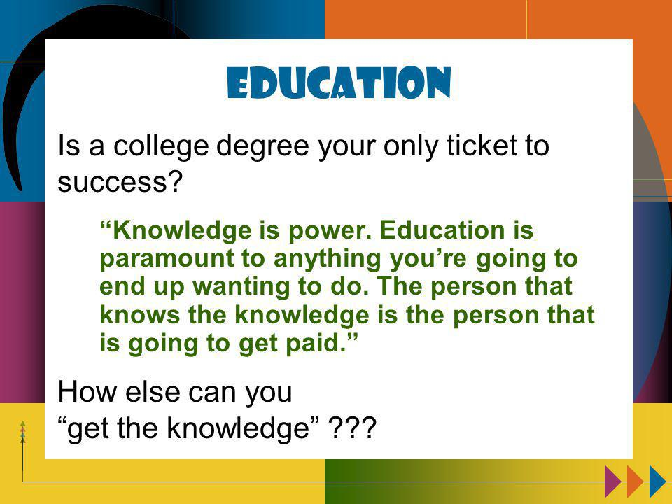 Education Knowledge is power.
