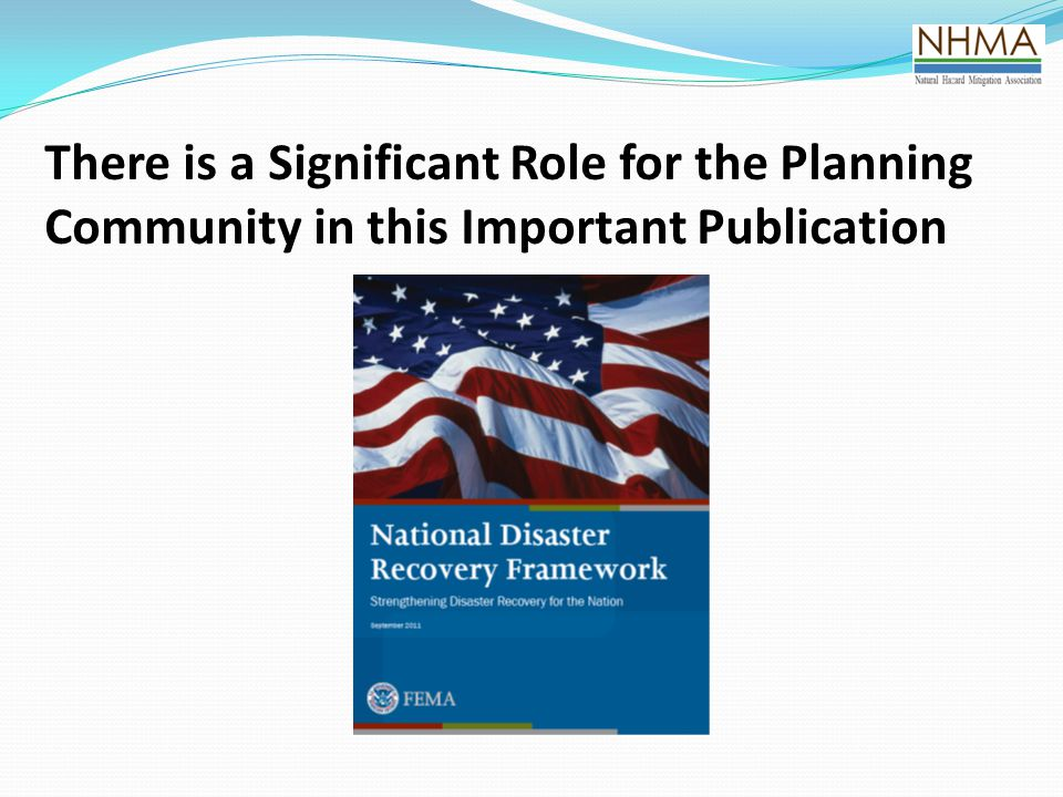 There is a Significant Role for the Planning Community in this Important Publication