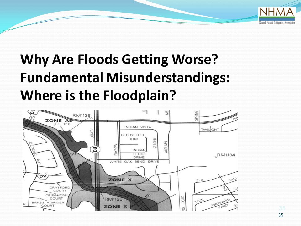 35 Why Are Floods Getting Worse? Fundamental Misunderstandings: Where is the Floodplain?