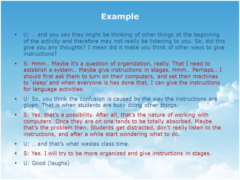 Example  U:..