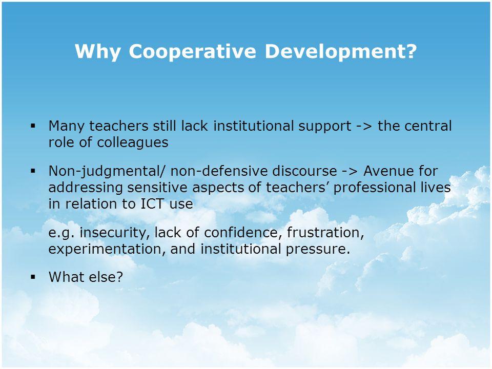 Why Cooperative Development.