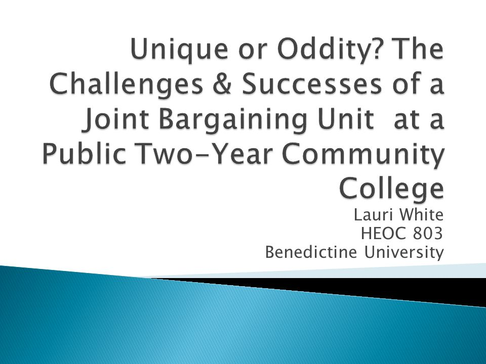  What constructs are unique to contract negotiations of a unified collective bargaining unit representing both faculty and staff.
