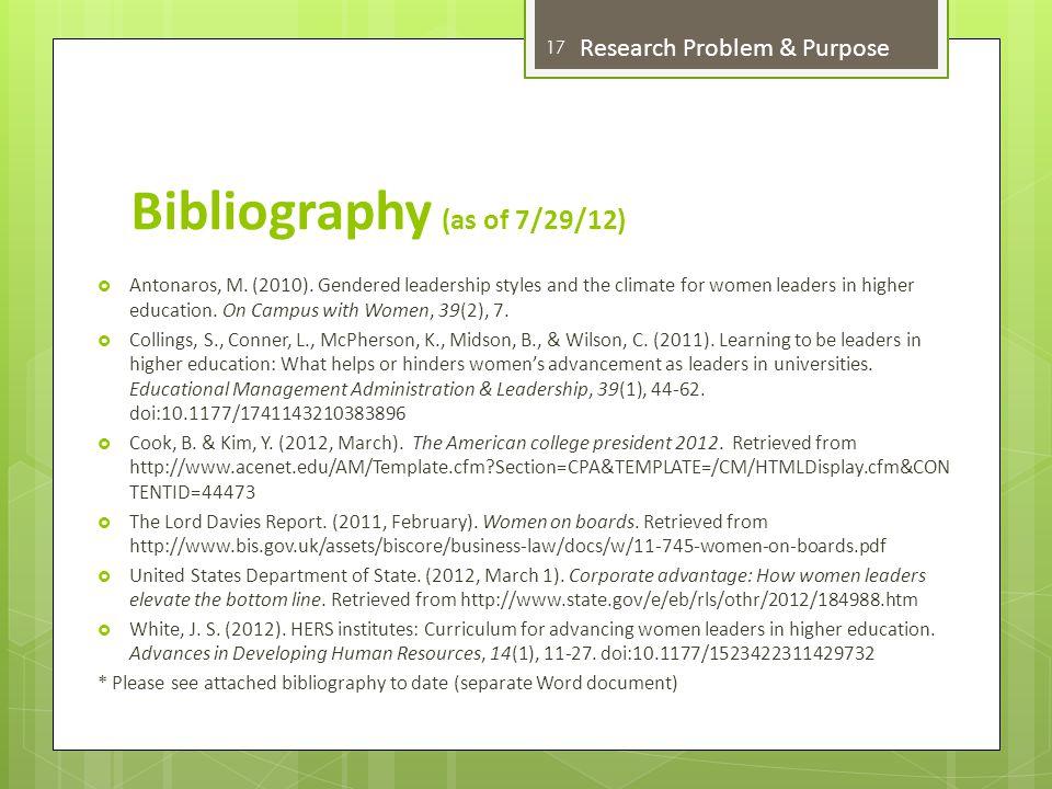 Bibliography (as of 7/29/12)  Antonaros, M. (2010).