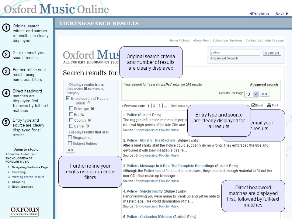VIEWING SEARCH RESULTS ENCYCLOPEDIA OF POPULAR MUSIC Jump to a topic:  Previous 5.