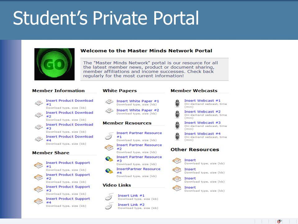 Student's Private Portal