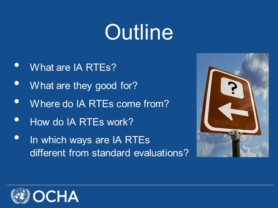 Outline What are IA RTEs. What are they good for.