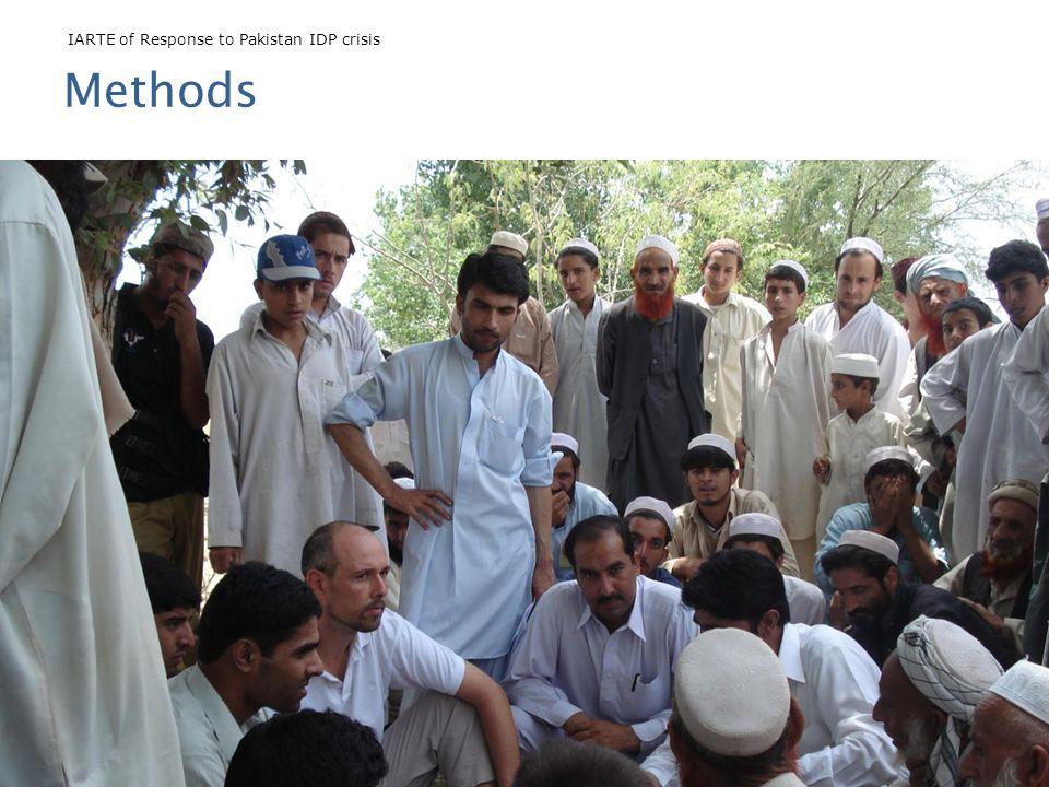 IARTE of Response to Pakistan IDP crisis John Cosgrave, Riccardo Polastro, and Farwa Zafar Methods