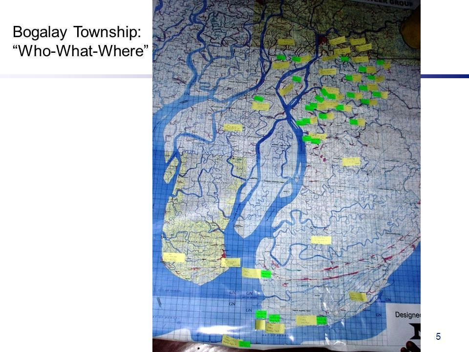 5 Bogalay Township: Who-What-Where