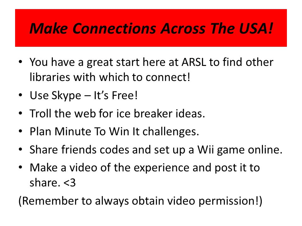 Make Connections Across The USA.