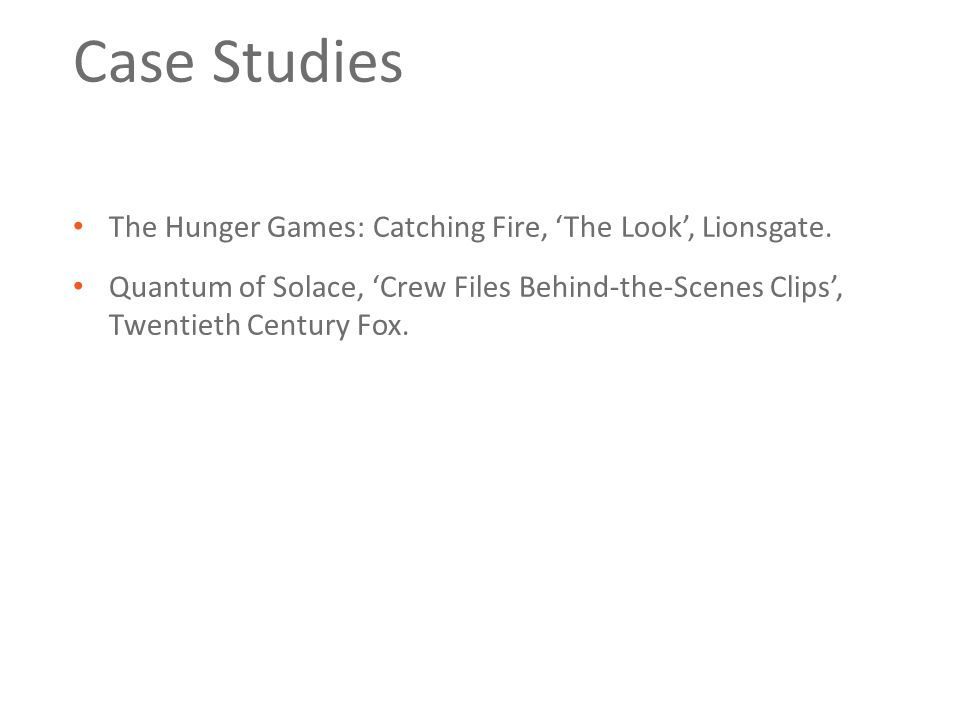 Case Studies The Hunger Games: Catching Fire, 'The Look', Lionsgate.