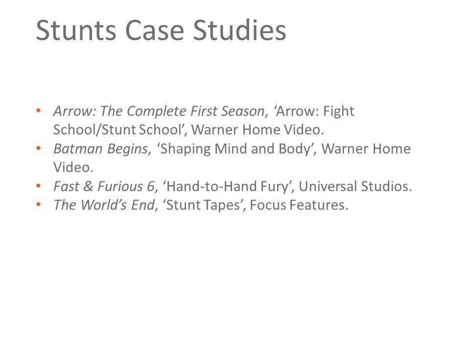Stunts Case Studies Arrow: The Complete First Season, 'Arrow: Fight School/Stunt School', Warner Home Video.