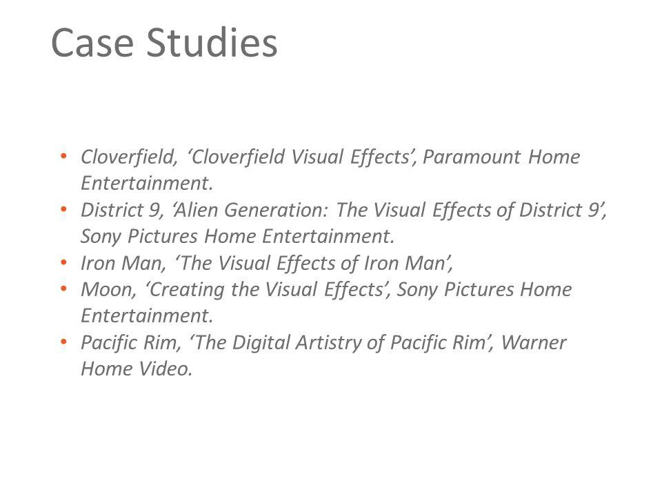 Case Studies Cloverfield, 'Cloverfield Visual Effects', Paramount Home Entertainment.