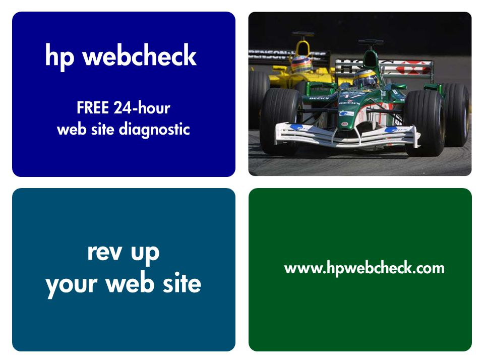 hp webcheck FREE 24-hour web site diagnostic www.hpwebcheck.com rev up your web site