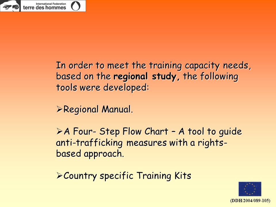 In order to meet the training capacity needs, based on the regional study, the following tools were developed:  Regional Manual.