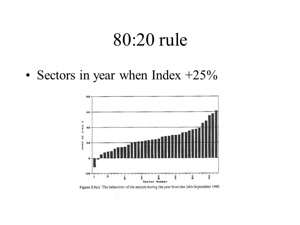 80:20 rule Sectors in year when Index +25%
