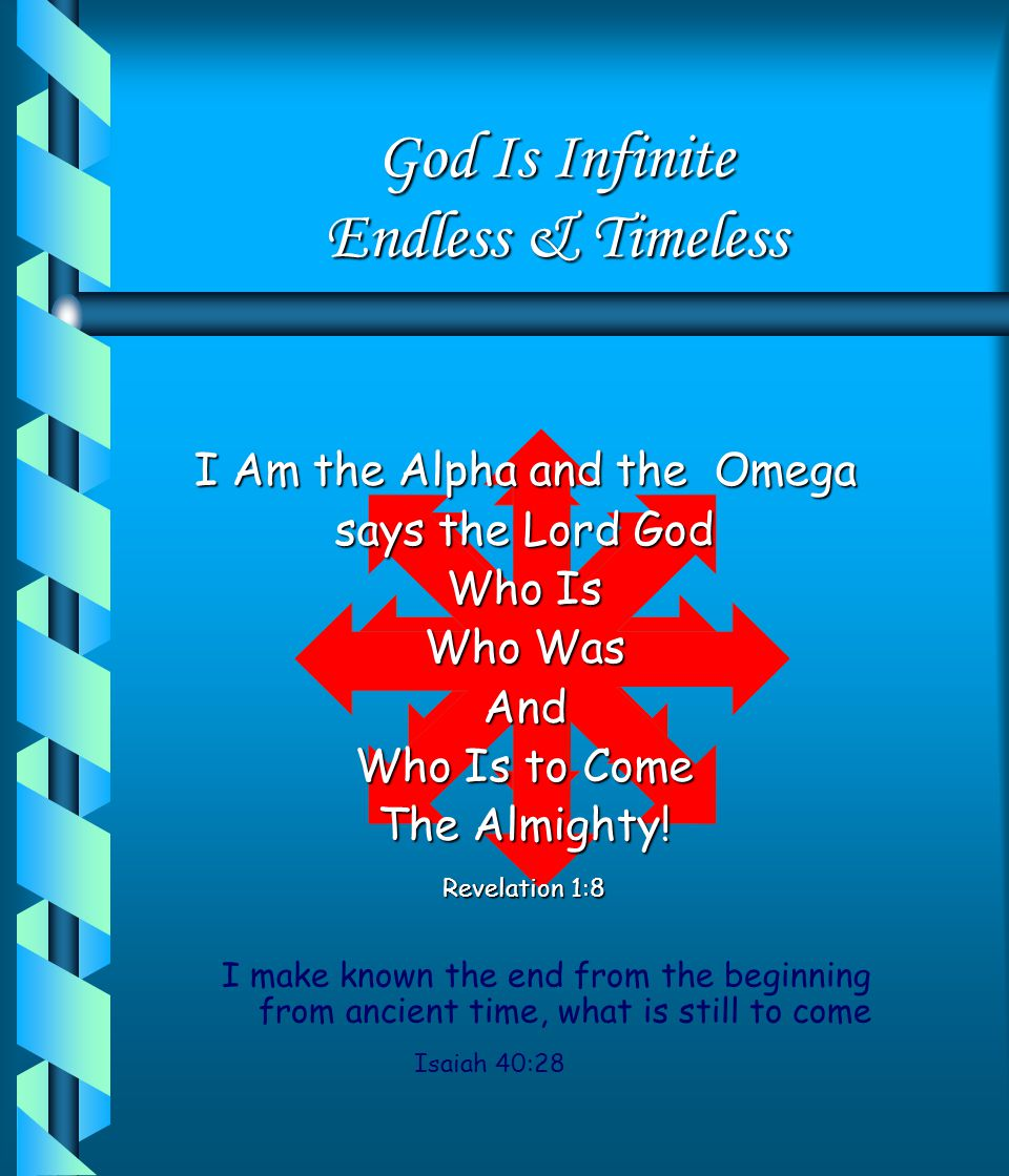 God Is Absolute I Am God and there is No other I Am God and there is None Like Me! Isaiah 46:10 I Am God, and there is No Other I am God and there is