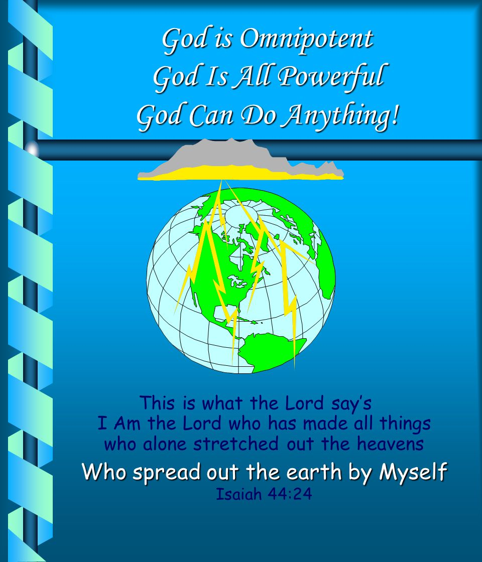 God Is Omniscient God Is All Knowing God Sees All! I know the Plans I have for you say's the Lord Plans to bless you and not to harm you Plans to give