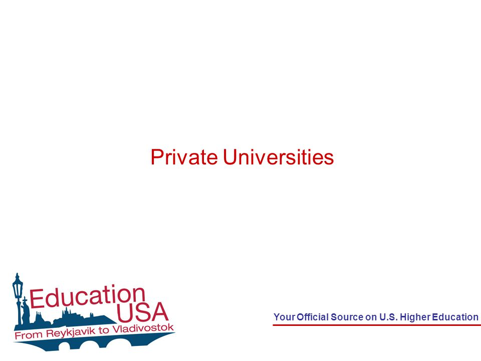 Your Official Source on U.S. Higher Education Private Universities