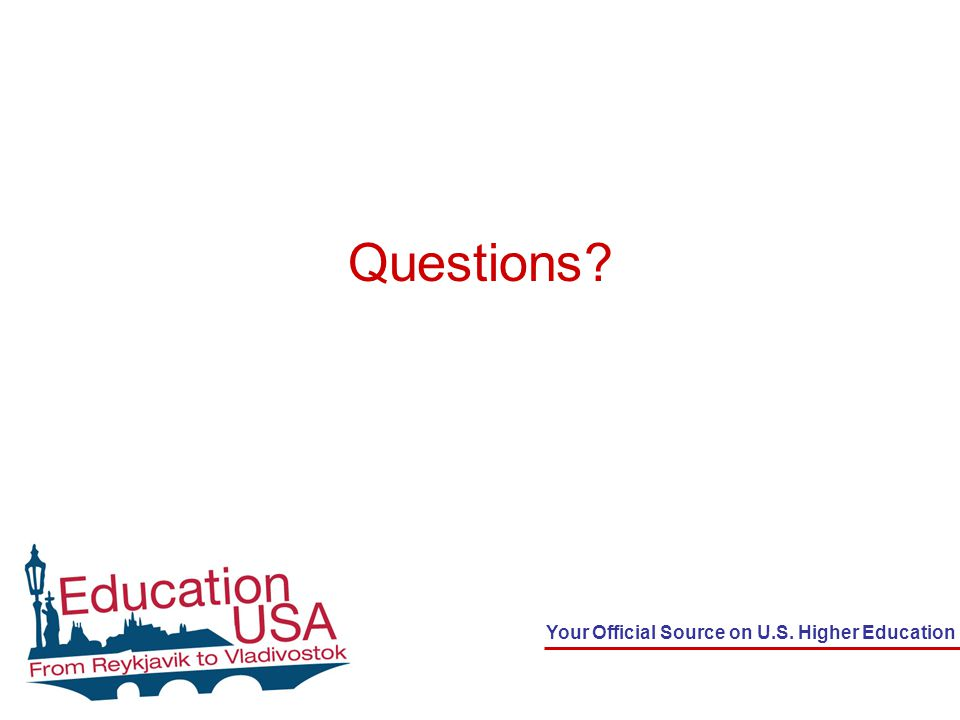 Your Official Source on U.S. Higher Education Questions?