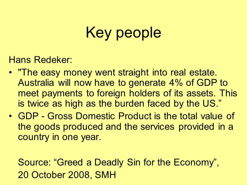 Key people Hans Redeker: