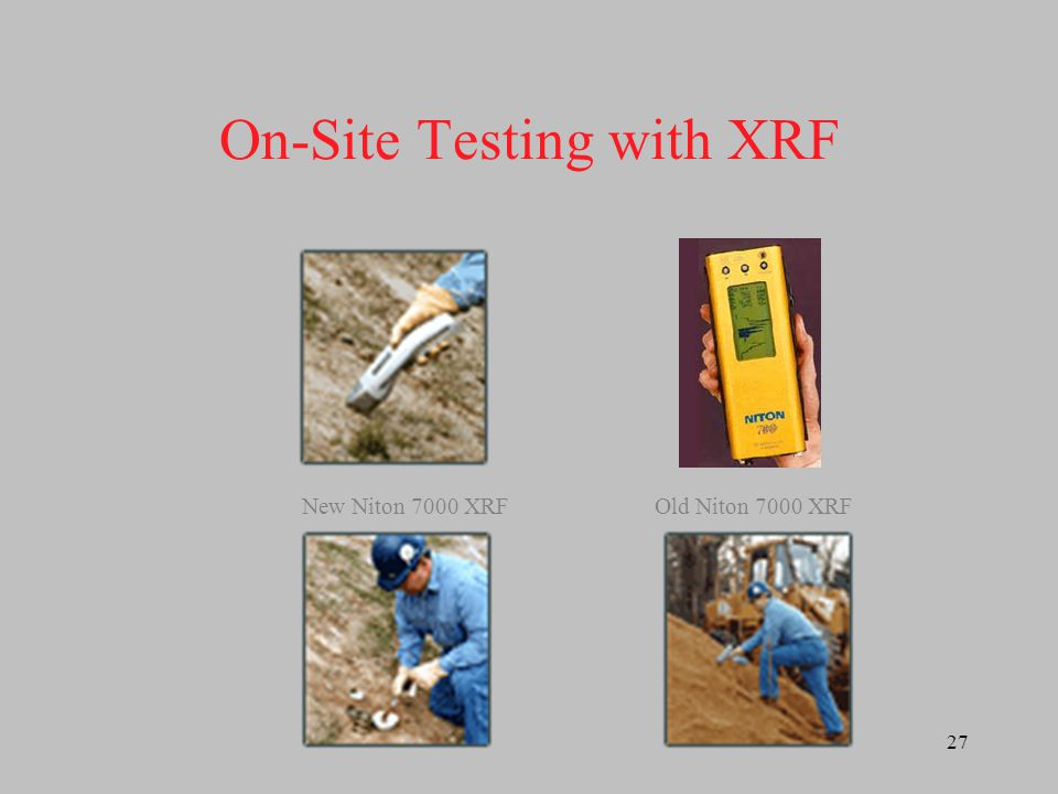 28 Comparison of Lead Concentrations using Field XRF and Laboratory XRF Testing MethodCorrelation (r 2 )Slope In situ0.810.86 Bagged0.870.98 Ground0.91 Sieved0.930.95 n = 119 Sample range = 10 – 31,000 ppm Pb
