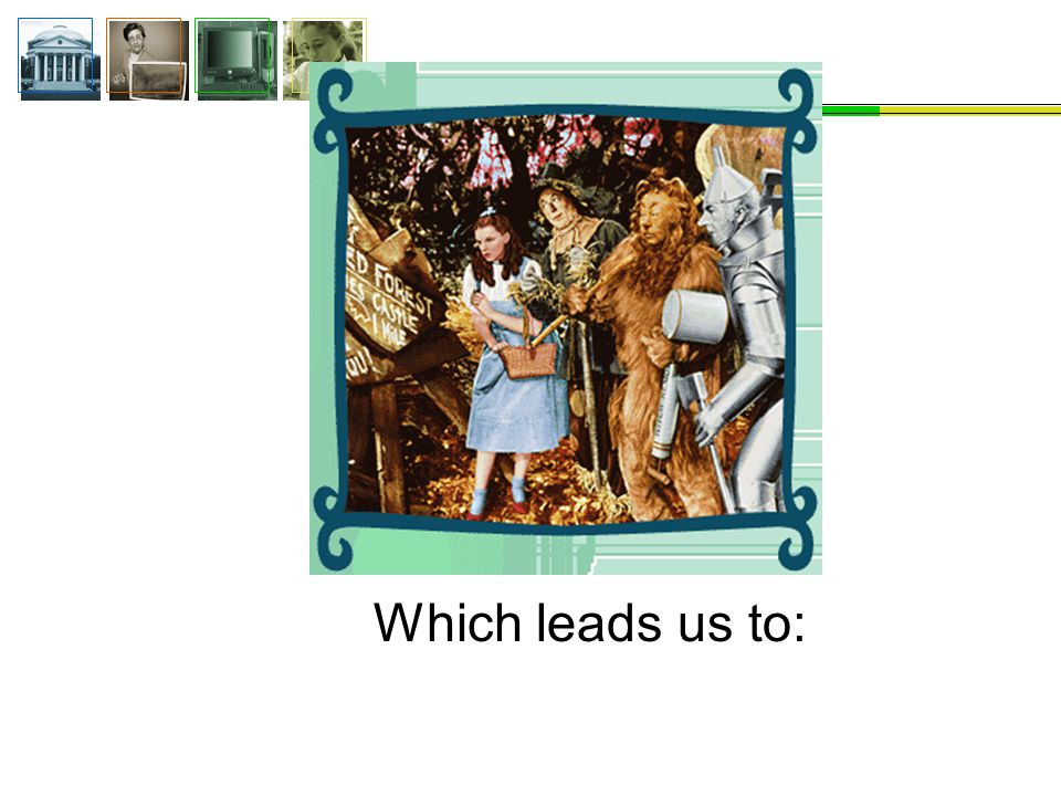 Which leads us to: