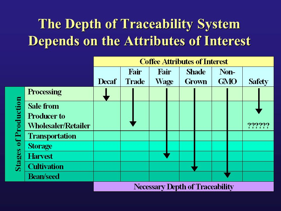 The Depth of Traceability System Depends on the Attributes of Interest