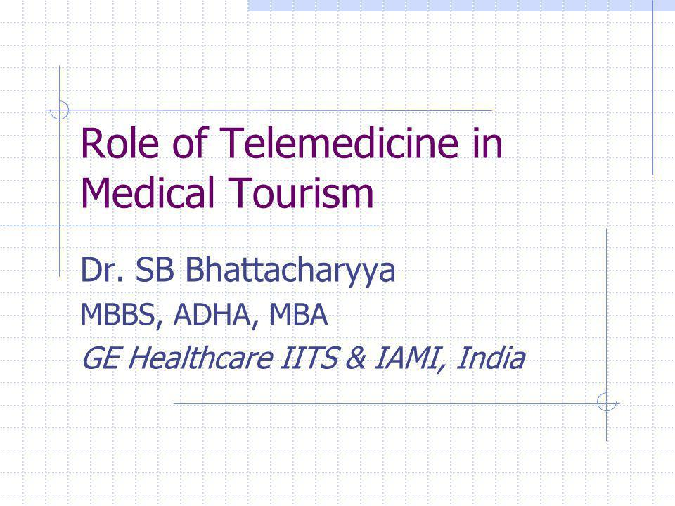 Role of Telemedicine in Medical Tourism Dr.