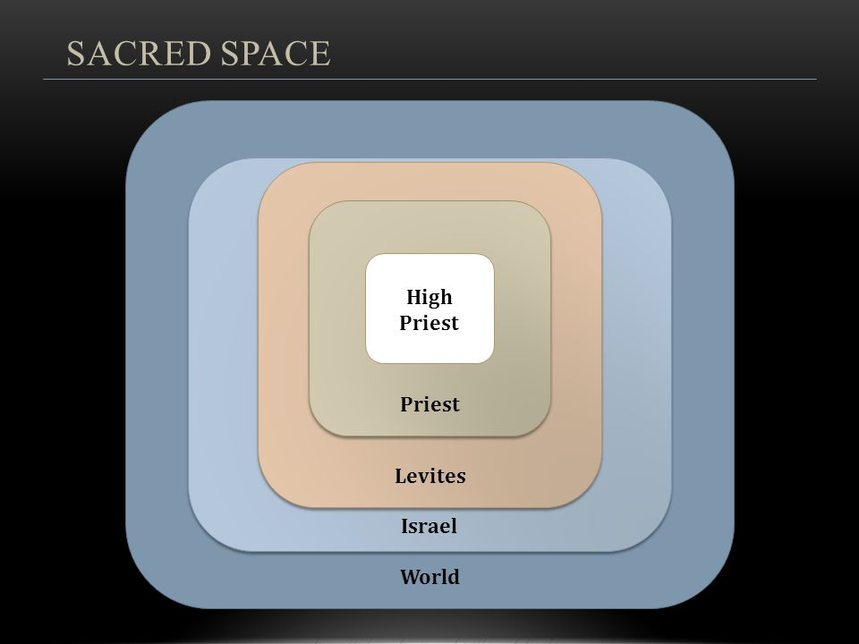 SACRED SPACE Holy Land World Israel Levites Priest High Priest