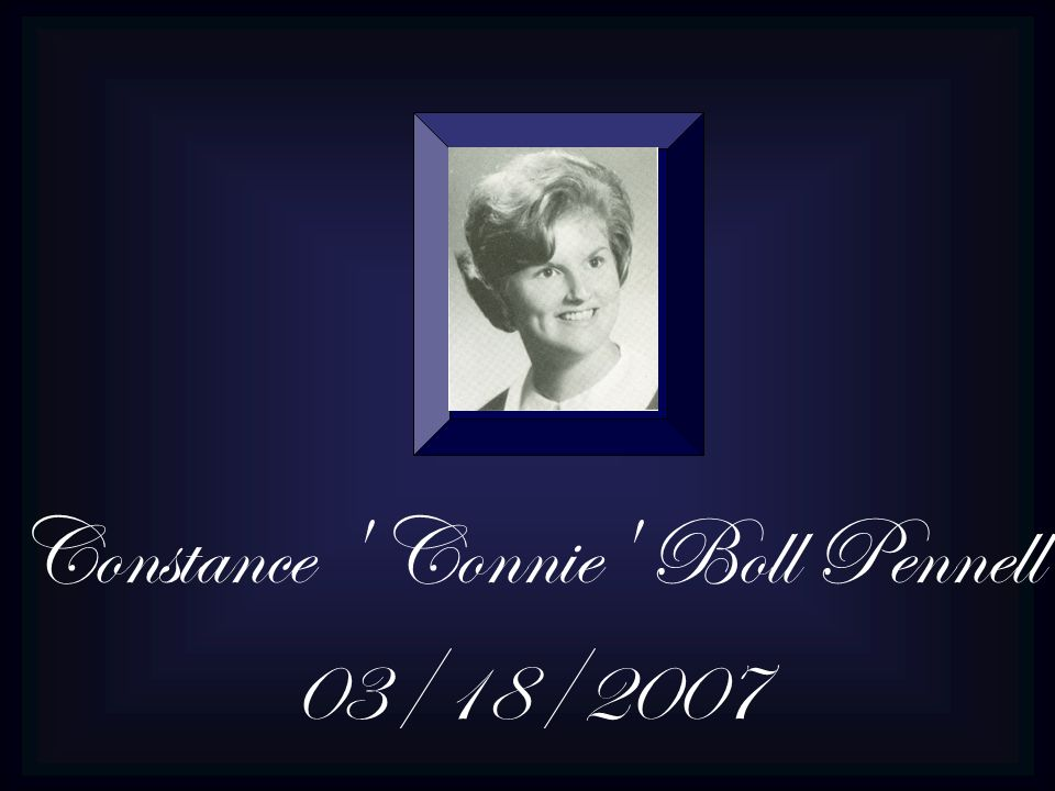 Constance Connie Boll Pennell 03/18/2007