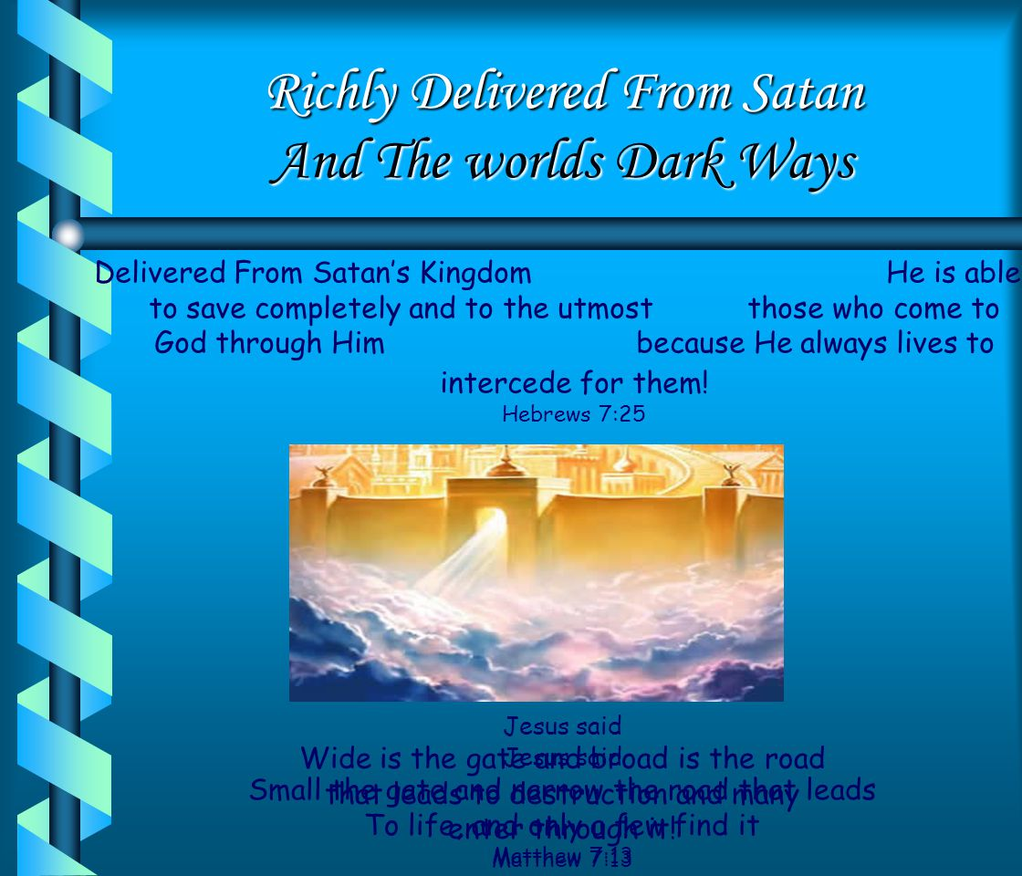 Gifted To The Son Rescued And Transferred Into The Kingdom of His Beloved Son He has rescued us from the dominion of darkness and brought us into the Kingdom of His Beloved Son Colossians 1:13 Our Citizenship is in Heaven And we eagerly await a Saviour from there the Lord Jesus Christ, who by the power that enables Him will transform our lowly bodies so that they will be like His glorious body Philippians 3:20