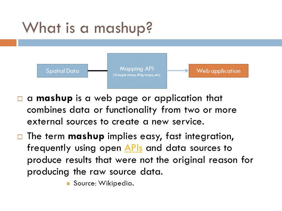 What is a mashup.