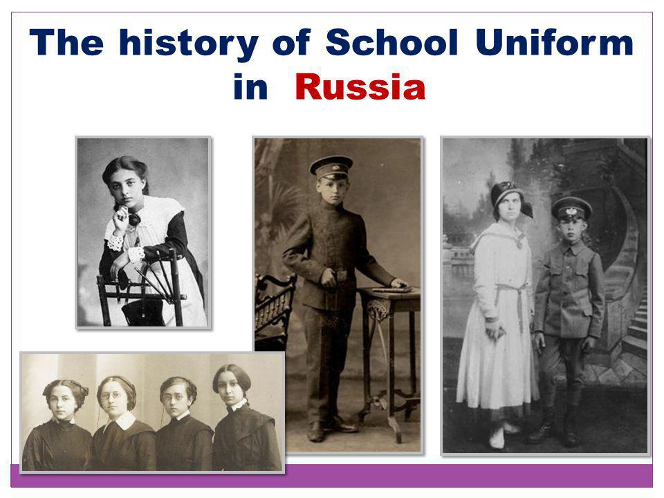 The history of School Uniform in Russia