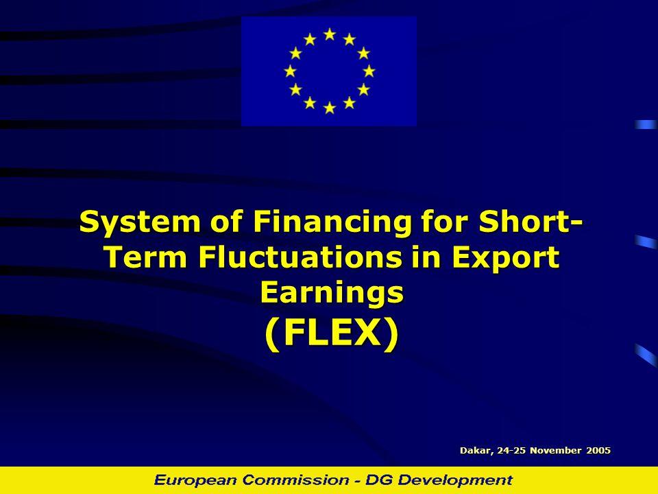 System of Financing for Short- Term Fluctuations in Export Earnings (FLEX) Dakar, 24-25 November 2005
