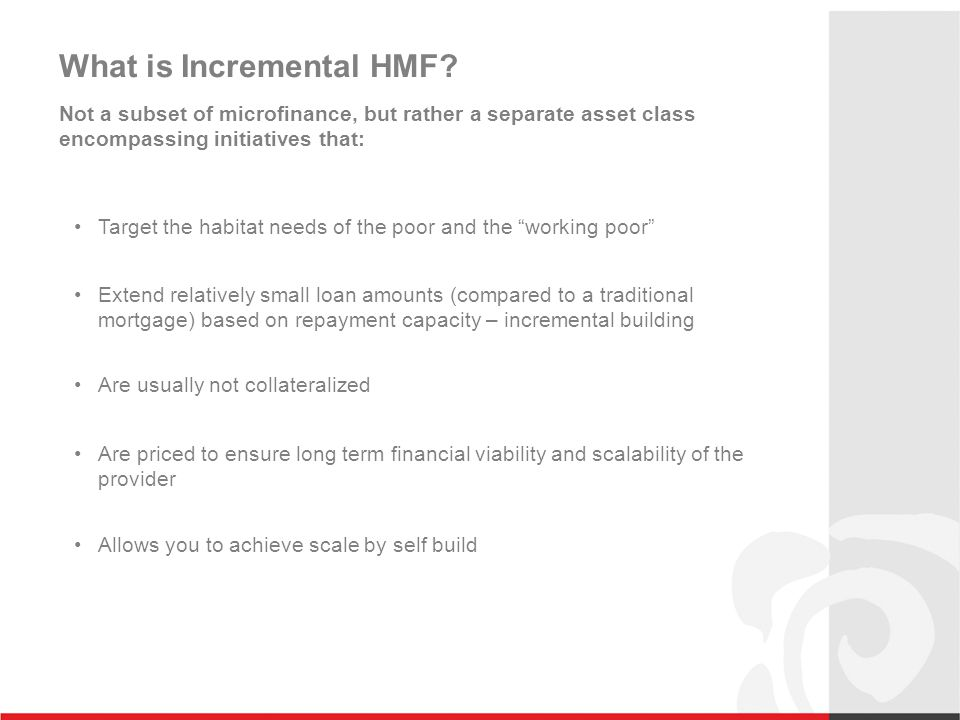 What is Incremental HMF.