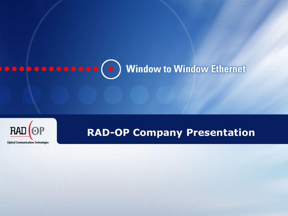1 RAD-OP Ilan Haber, CEO Tel: +972-544-902-906 Email: ilan_ha@rad-op.comilan_ha@rad-op.com URL: www.rad-op.com RAD-OP Company Presentation